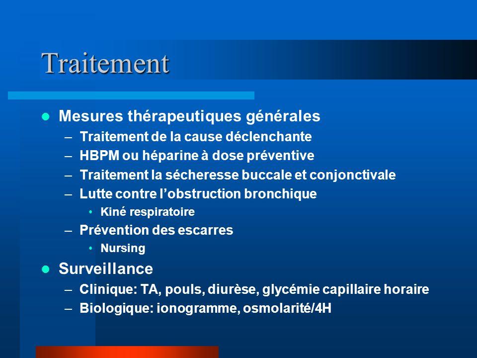 Traitement Mesures thérapeutiques générales Surveillance