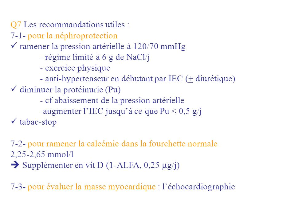 Q7 Les recommandations utiles :