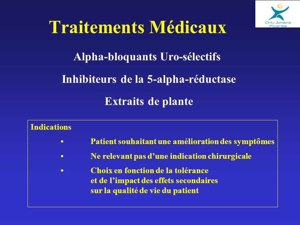 Alpha-bloquants Uro-sélectifs Inhibiteurs de la 5-alpha-réductase