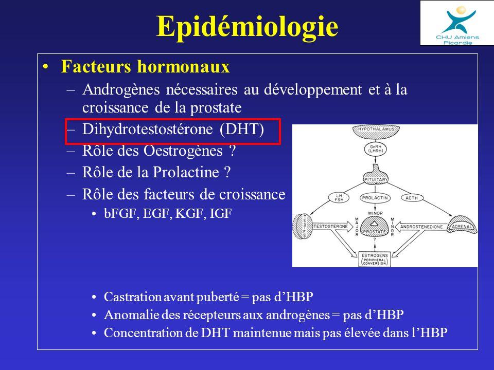 Epidémiologie Facteurs hormonaux