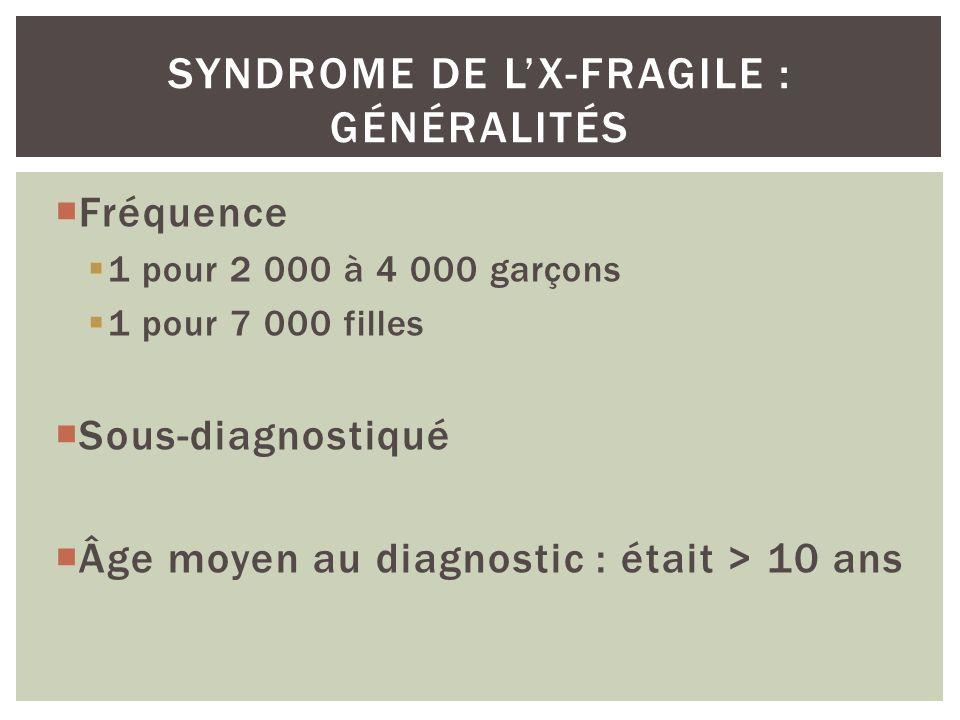 Syndrome de l'X-fragile : généralités