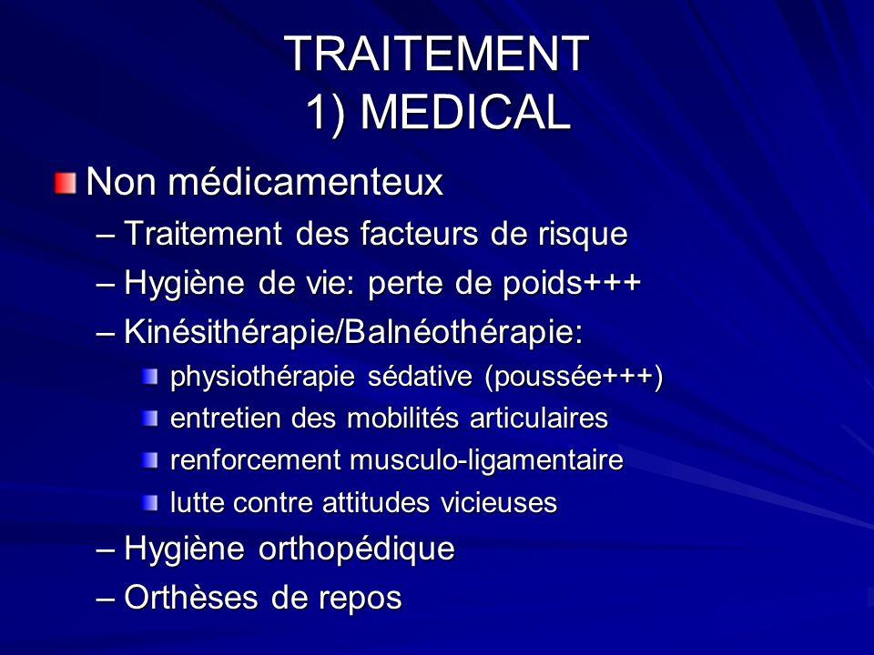 TRAITEMENT 1) MEDICAL Non médicamenteux