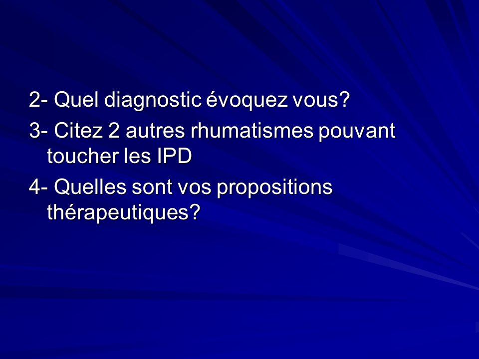 2- Quel diagnostic évoquez vous
