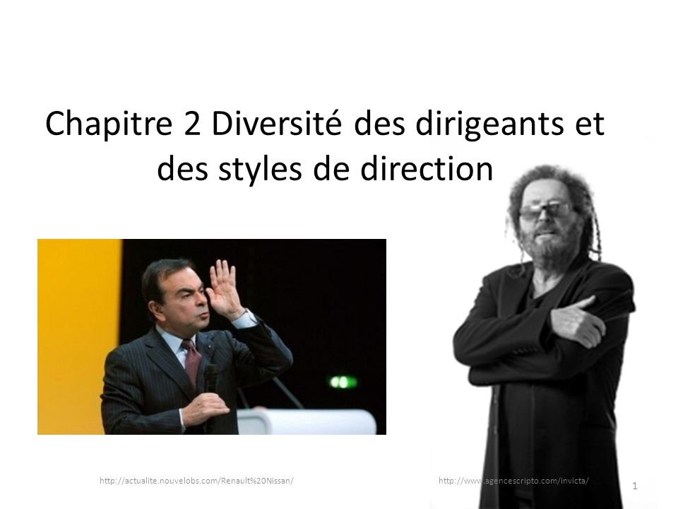 Chapitre 2 Diversité des dirigeants et des styles de direction