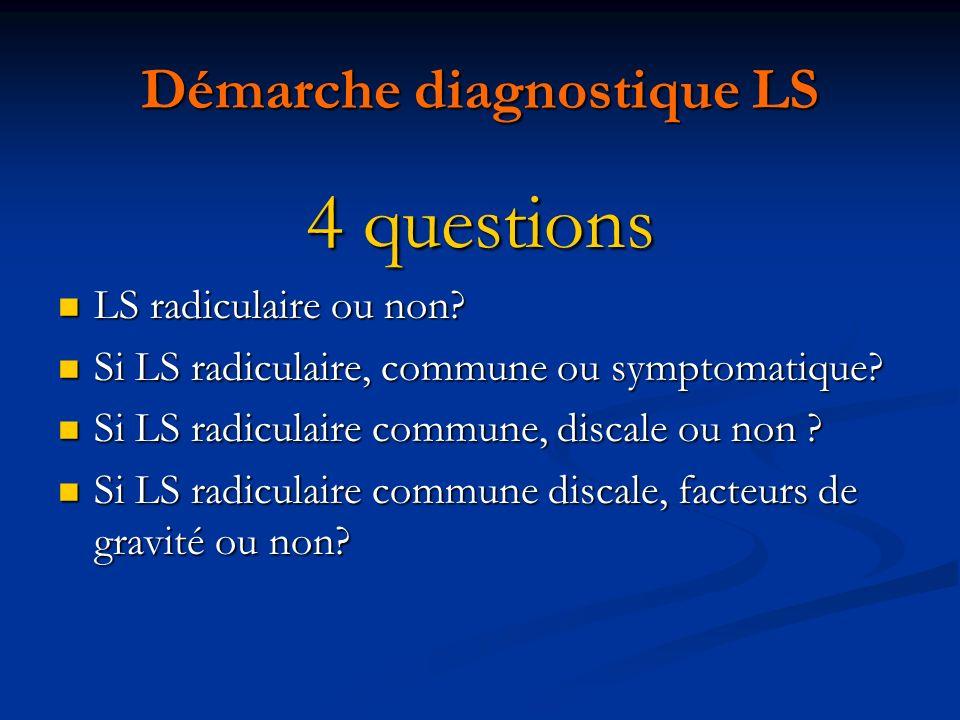 Démarche diagnostique LS