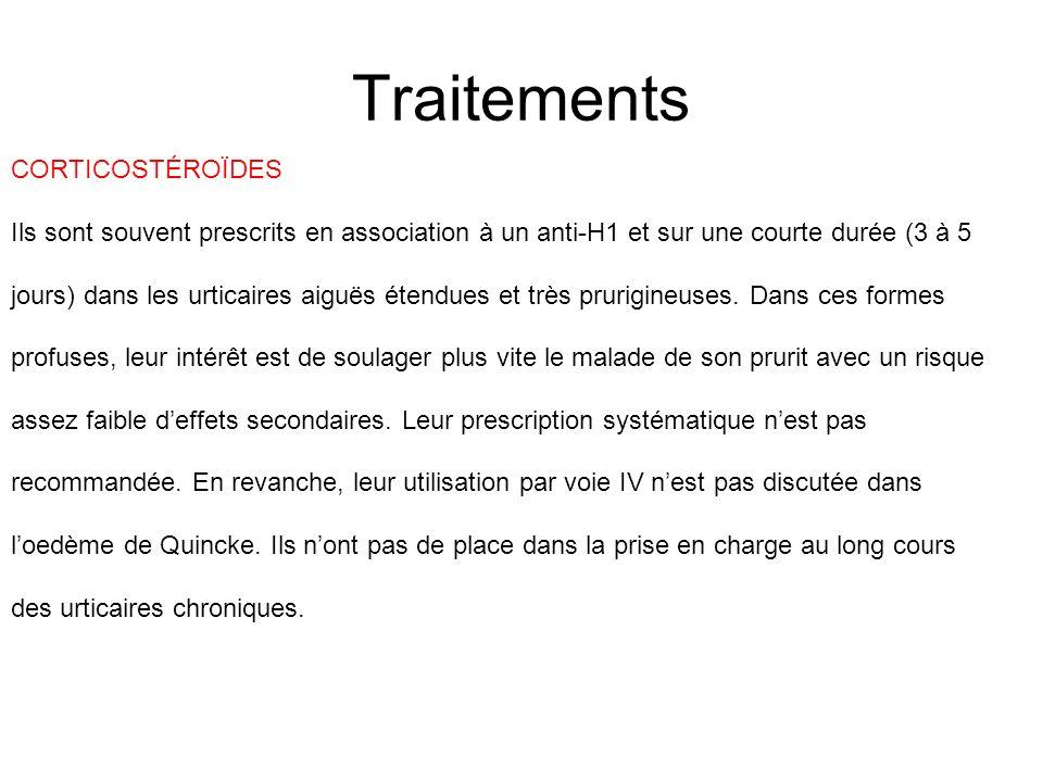 Traitements CORTICOSTÉROÏDES