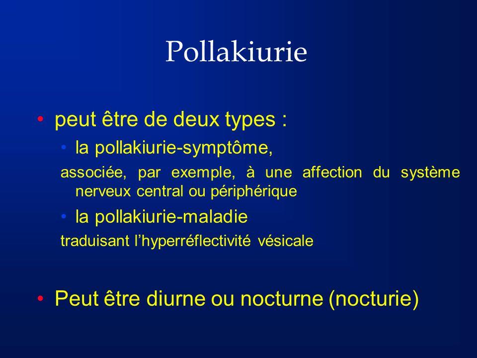 Pollakiurie peut être de deux types :