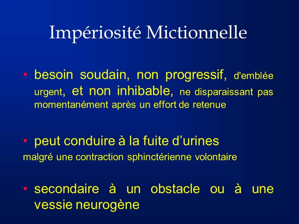 Impériosité Mictionnelle