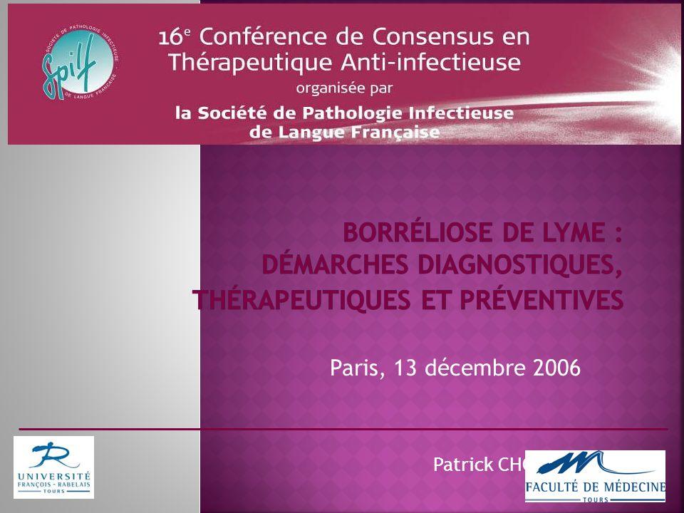 Paris, 13 décembre 2006 Patrick CHOUTET