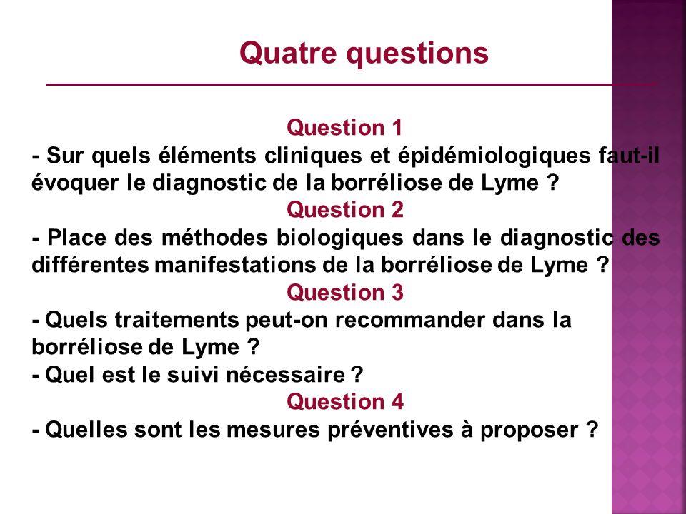 Quatre questions Question 1