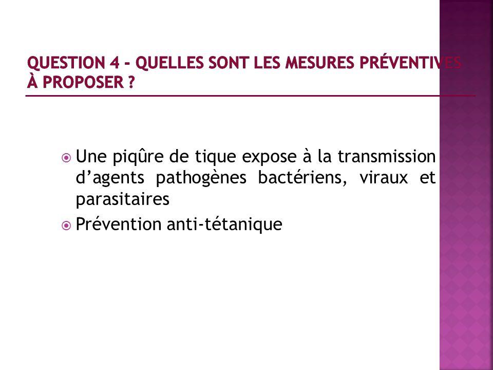 Question 4 - Quelles sont les mesures préventives à proposer