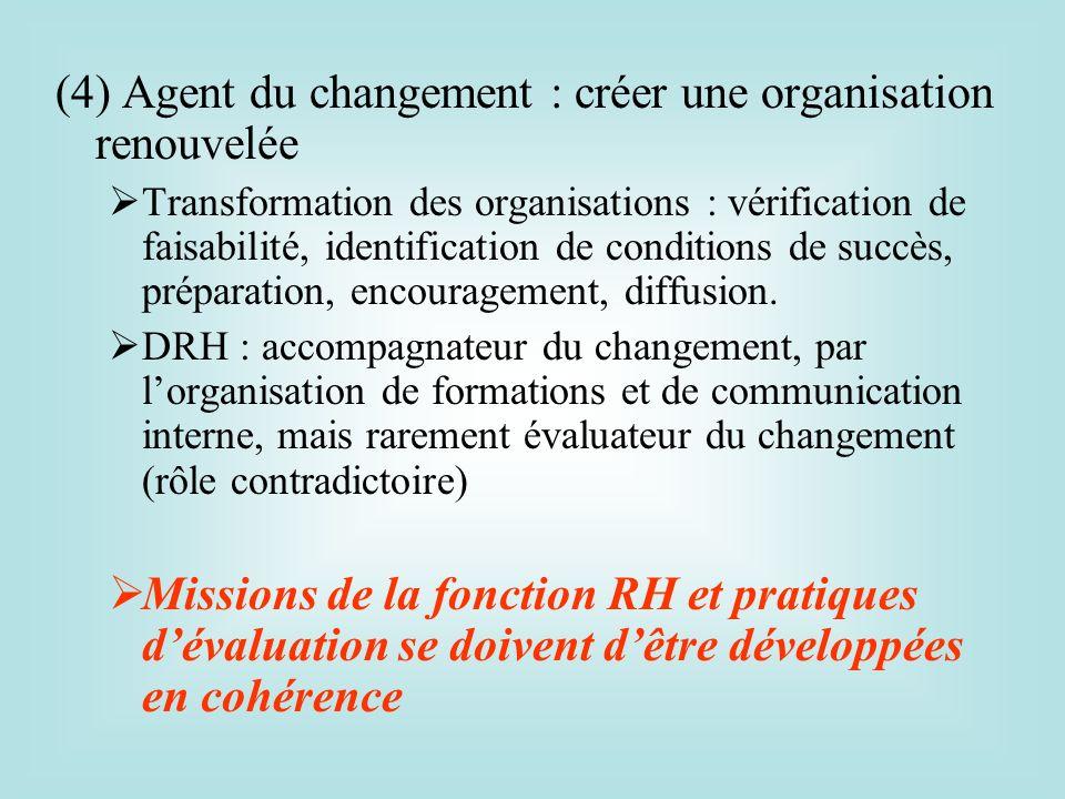 (4) Agent du changement : créer une organisation renouvelée