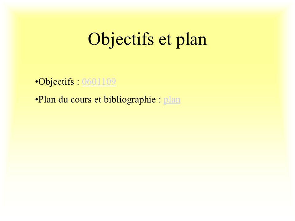 Objectifs et plan Objectifs : 0601109