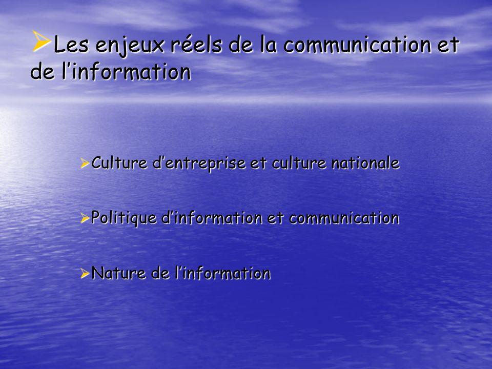 Les enjeux réels de la communication et de l'information