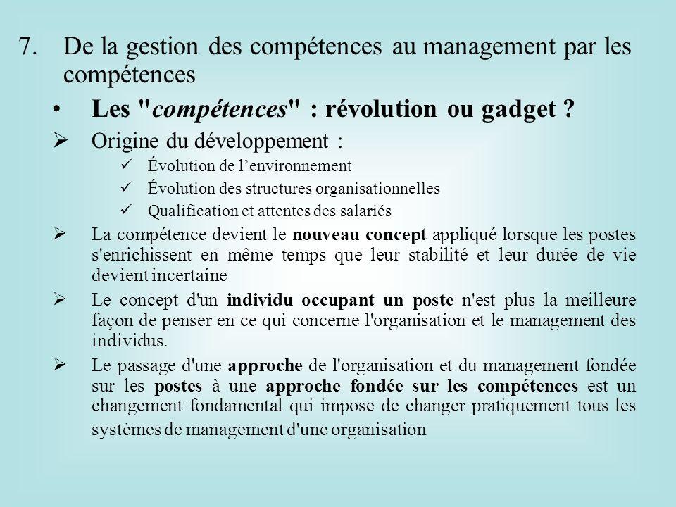 De la gestion des compétences au management par les compétences