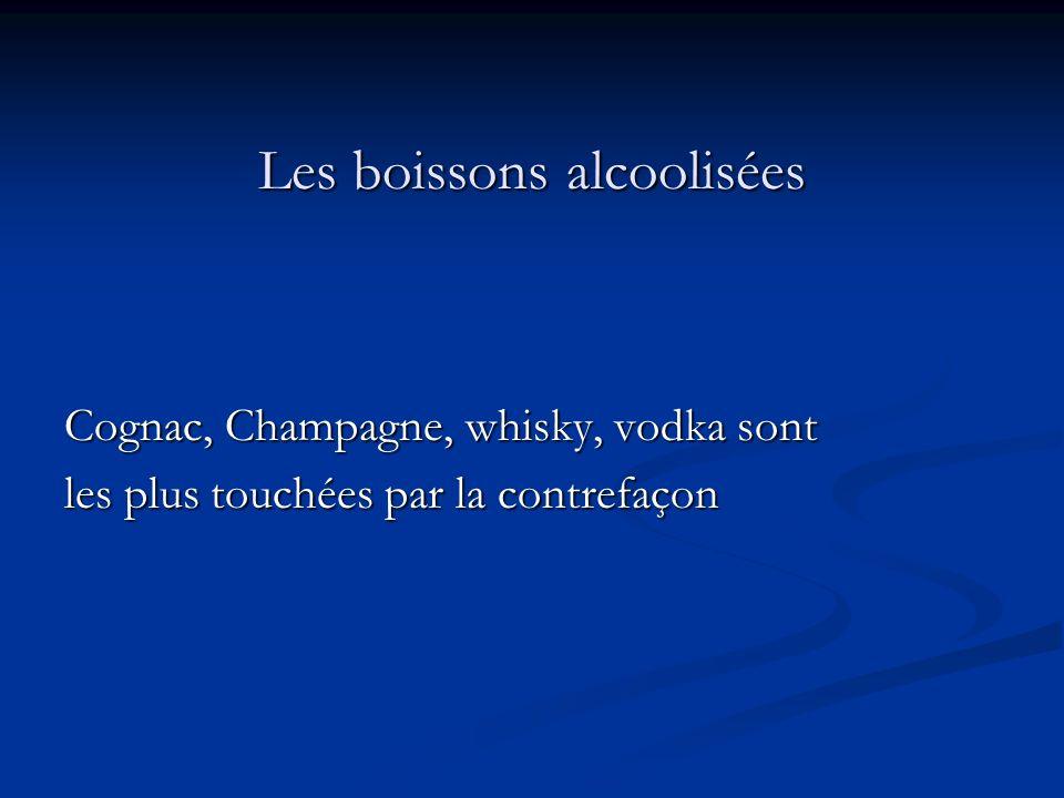 Les boissons alcoolisées