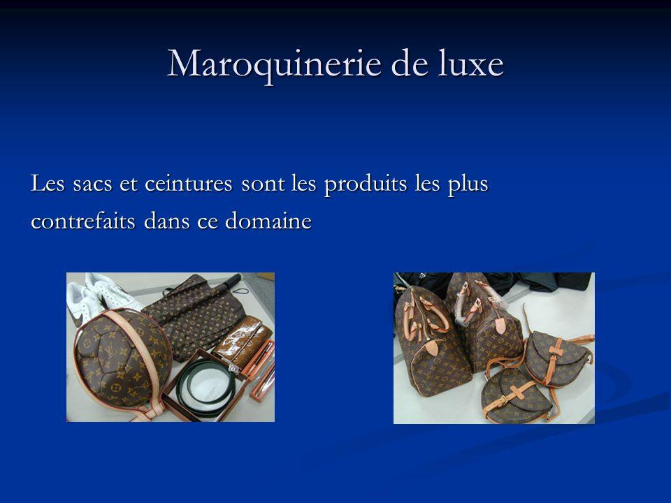Maroquinerie de luxe Les sacs et ceintures sont les produits les plus