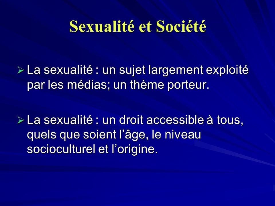 Sexualité et Société La sexualité : un sujet largement exploité par les médias; un thème porteur.