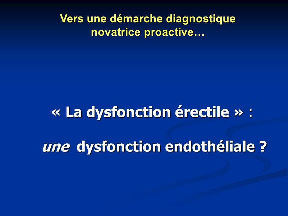 une dysfonction endothéliale