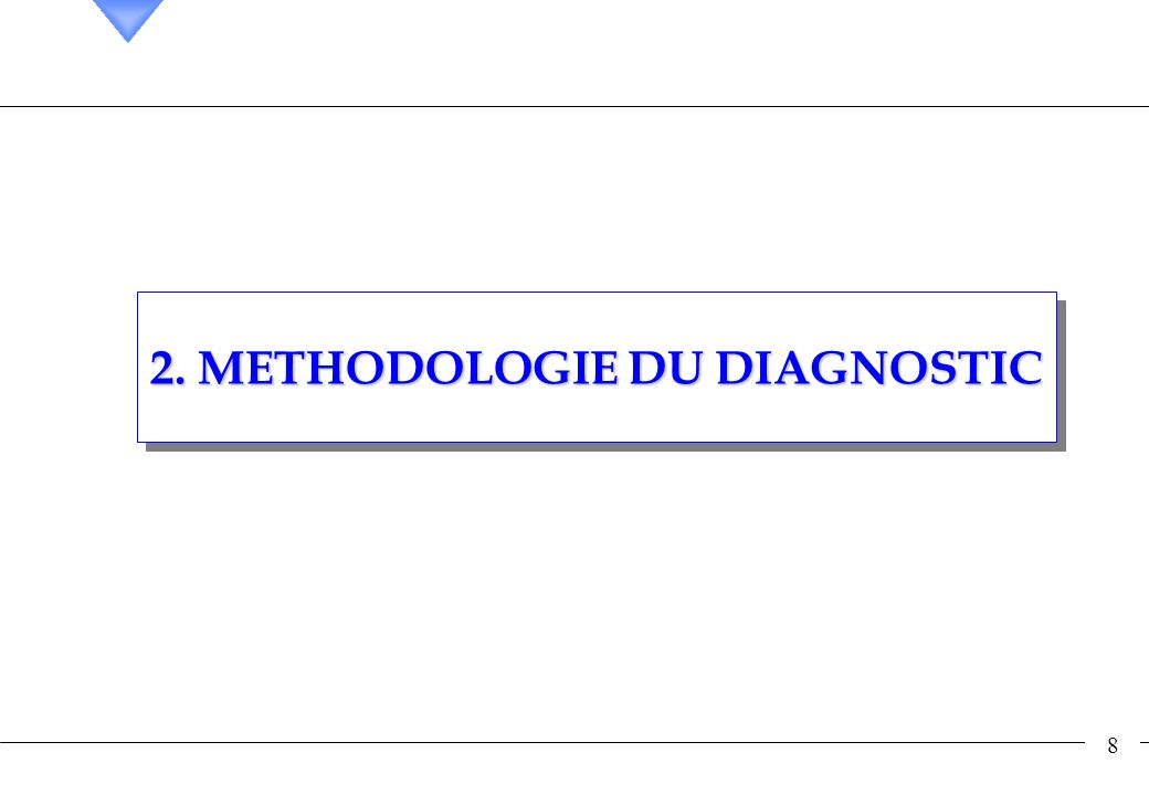 2. METHODOLOGIE DU DIAGNOSTIC