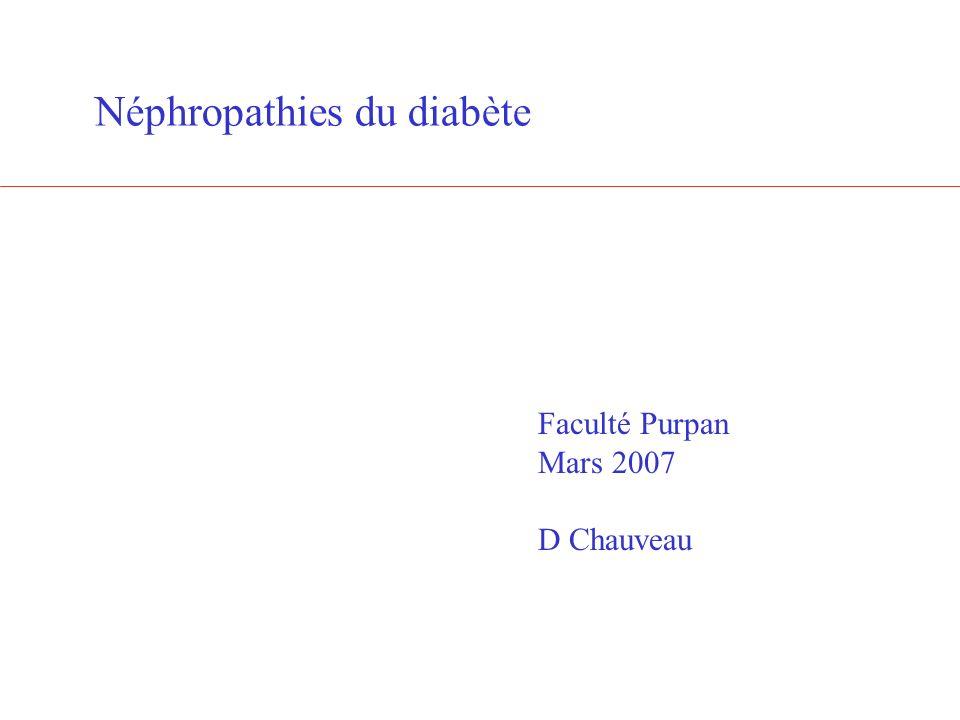 Néphropathies du diabète
