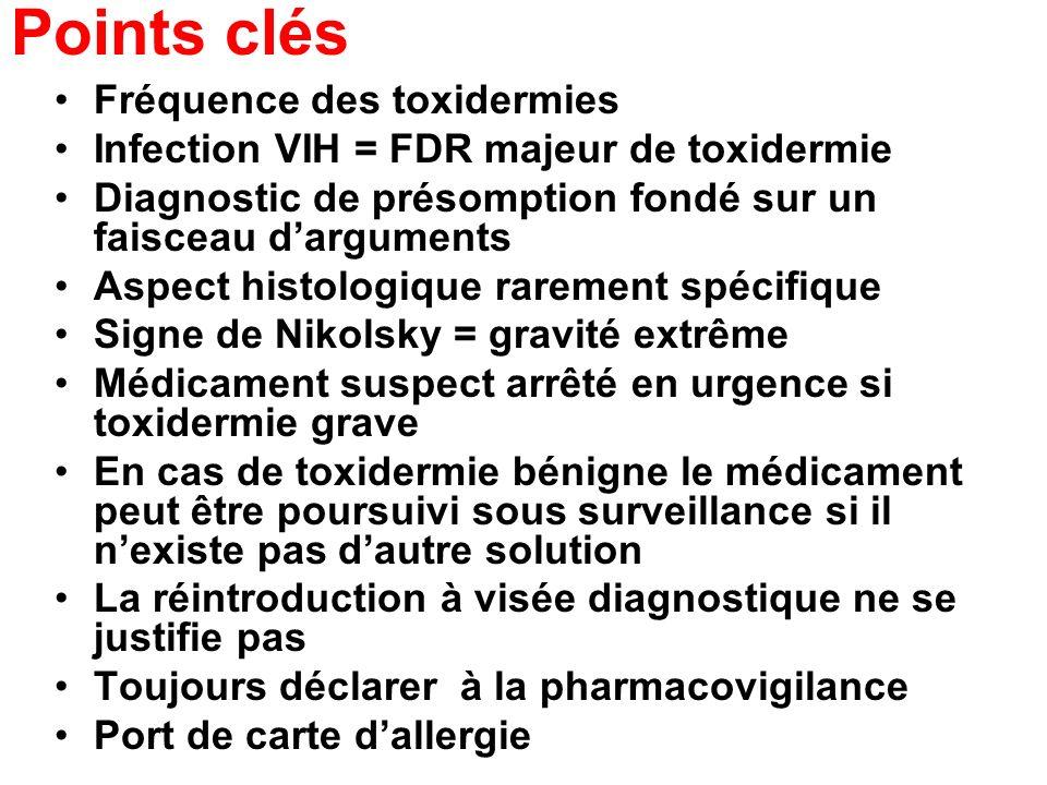 Points clés Fréquence des toxidermies