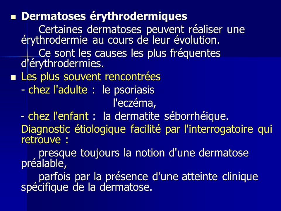 Dermatoses érythrodermiques