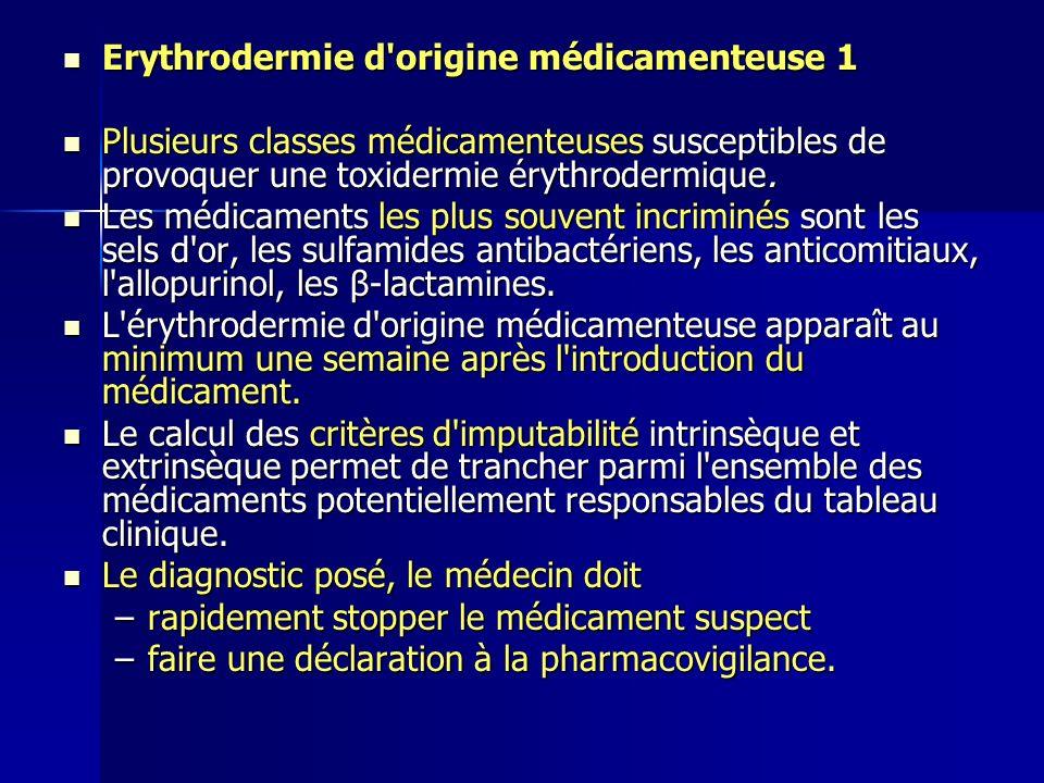 Erythrodermie d origine médicamenteuse 1
