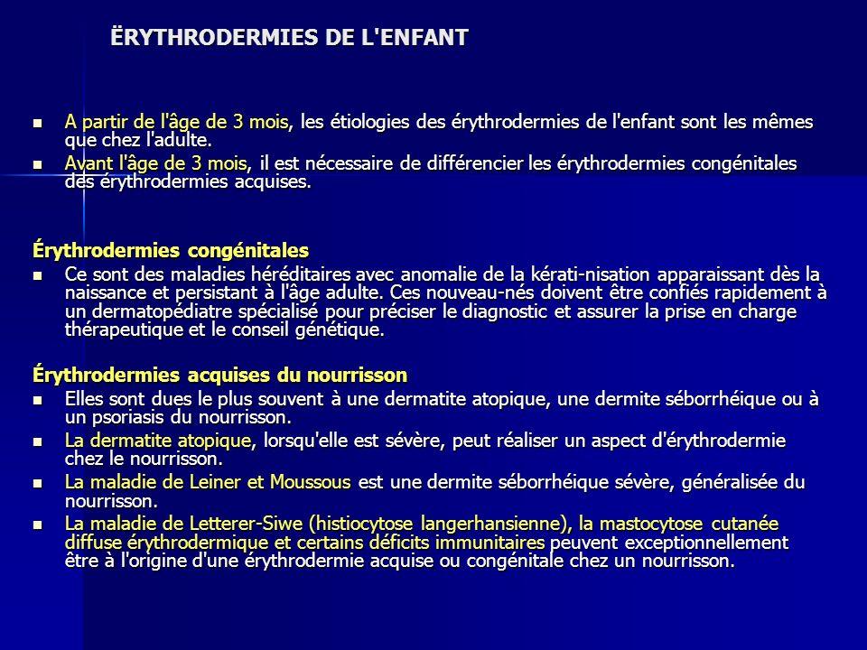 ËRYTHRODERMIES DE L ENFANT