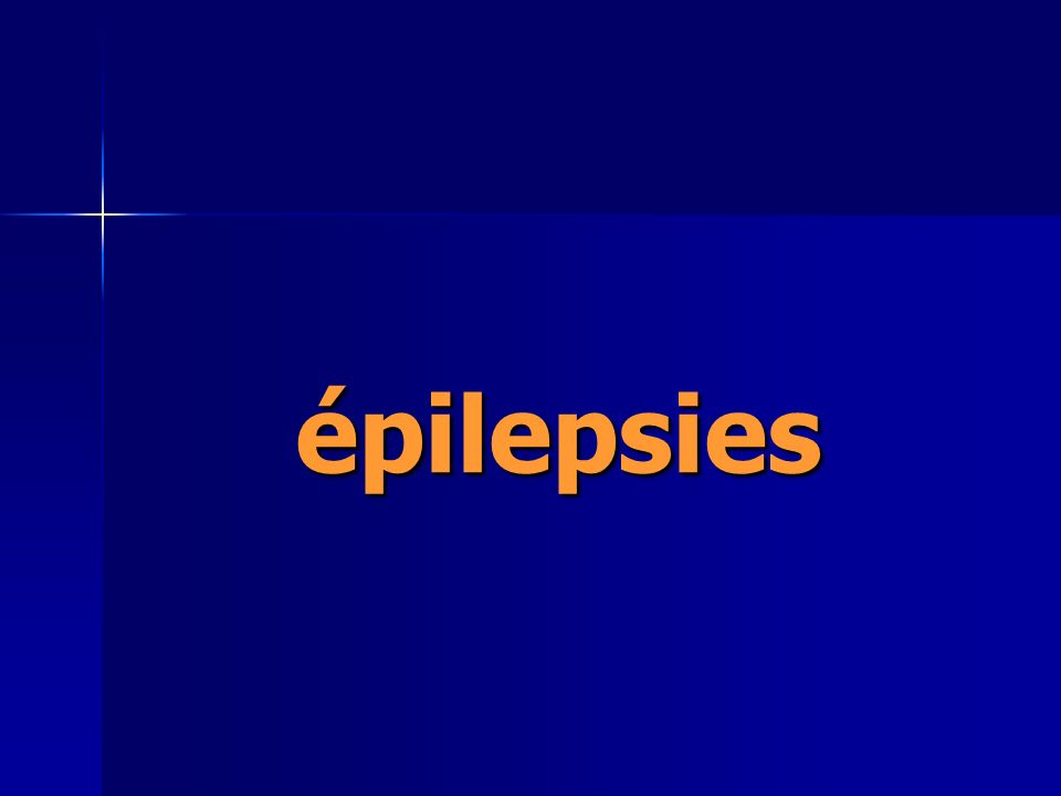 épilepsies