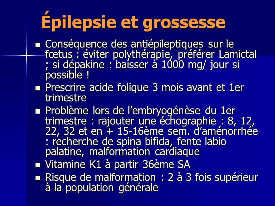 Épilepsie et grossesse