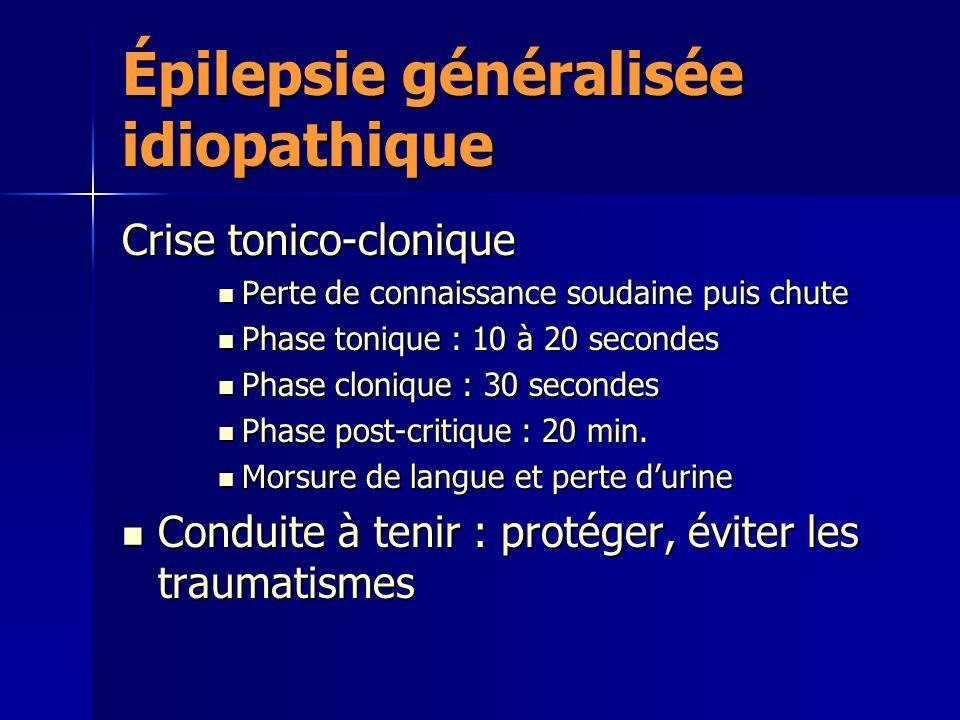 Épilepsie généralisée idiopathique