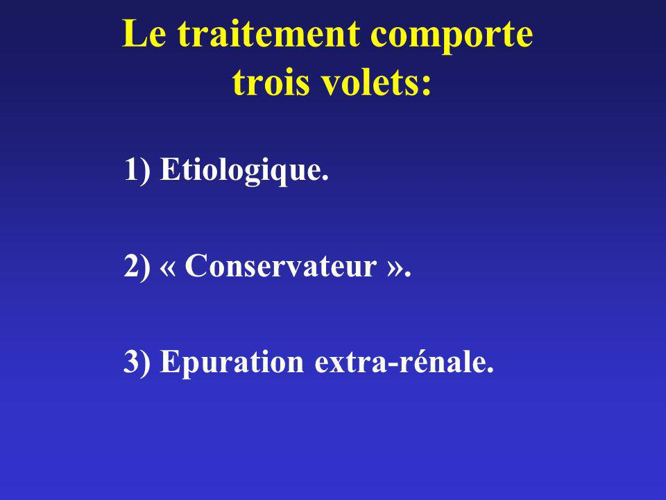 Le traitement comporte trois volets: