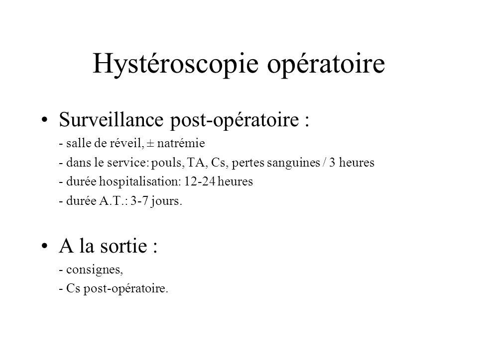 Hystéroscopie opératoire