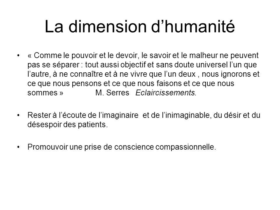 La dimension d'humanité