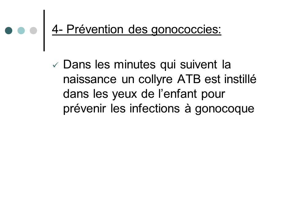 4- Prévention des gonococcies: