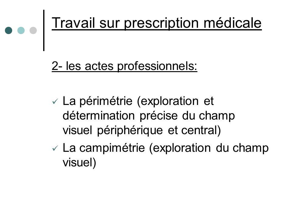 Travail sur prescription médicale
