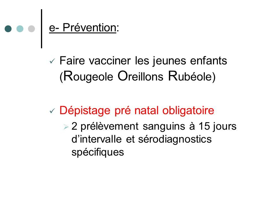 Faire vacciner les jeunes enfants (Rougeole Oreillons Rubéole)