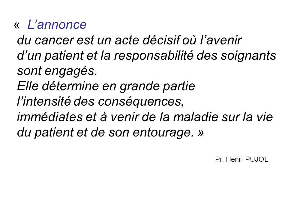 du cancer est un acte décisif où l'avenir