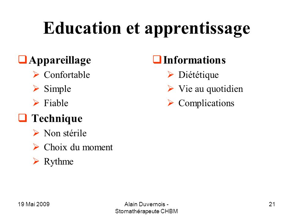 Education et apprentissage