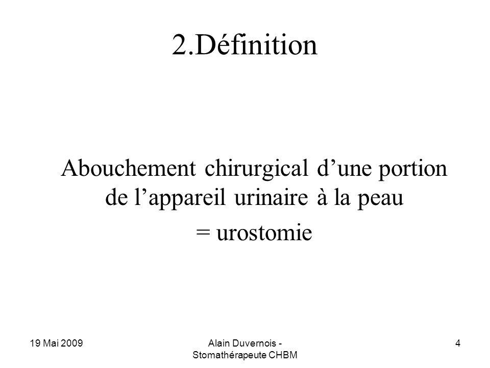 2.Définition = urostomie