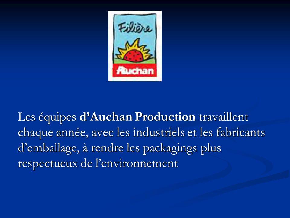 Les équipes d'Auchan Production travaillent chaque année, avec les industriels et les fabricants d'emballage, à rendre les packagings plus respectueux de l'environnement