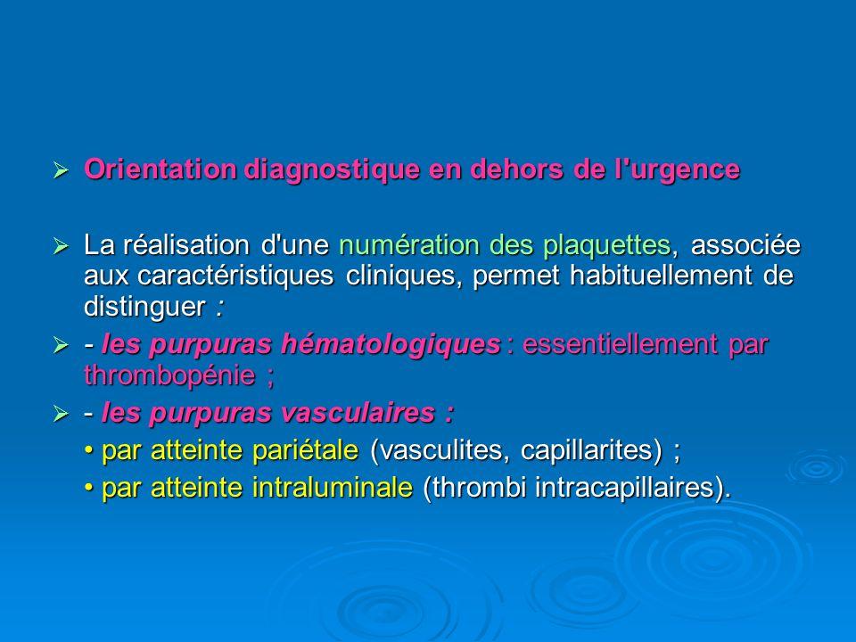 Orientation diagnostique en dehors de l urgence