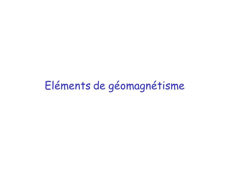 Eléments de géomagnétisme
