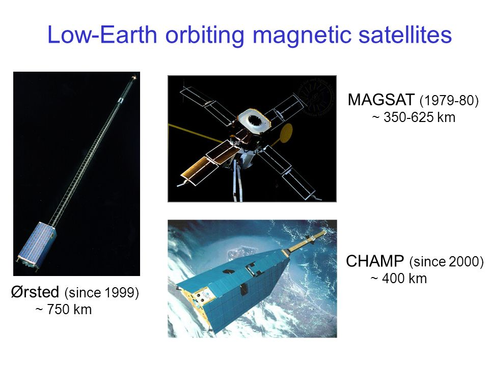 Low-Earth orbiting magnetic satellites