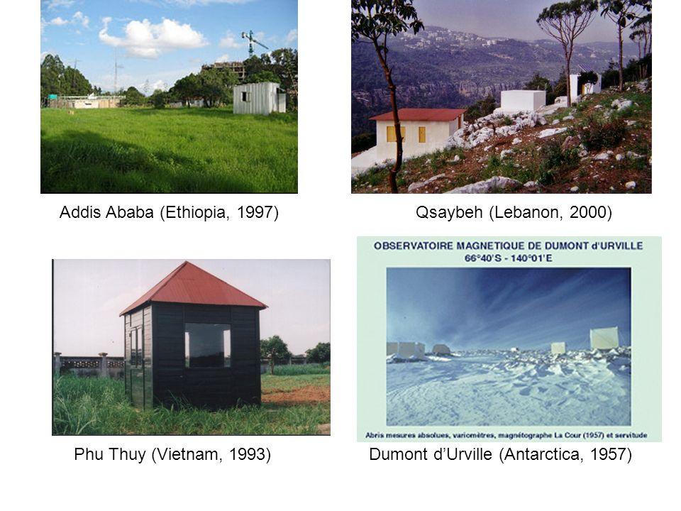 Addis Ababa (Ethiopia, 1997) Qsaybeh (Lebanon, 2000)