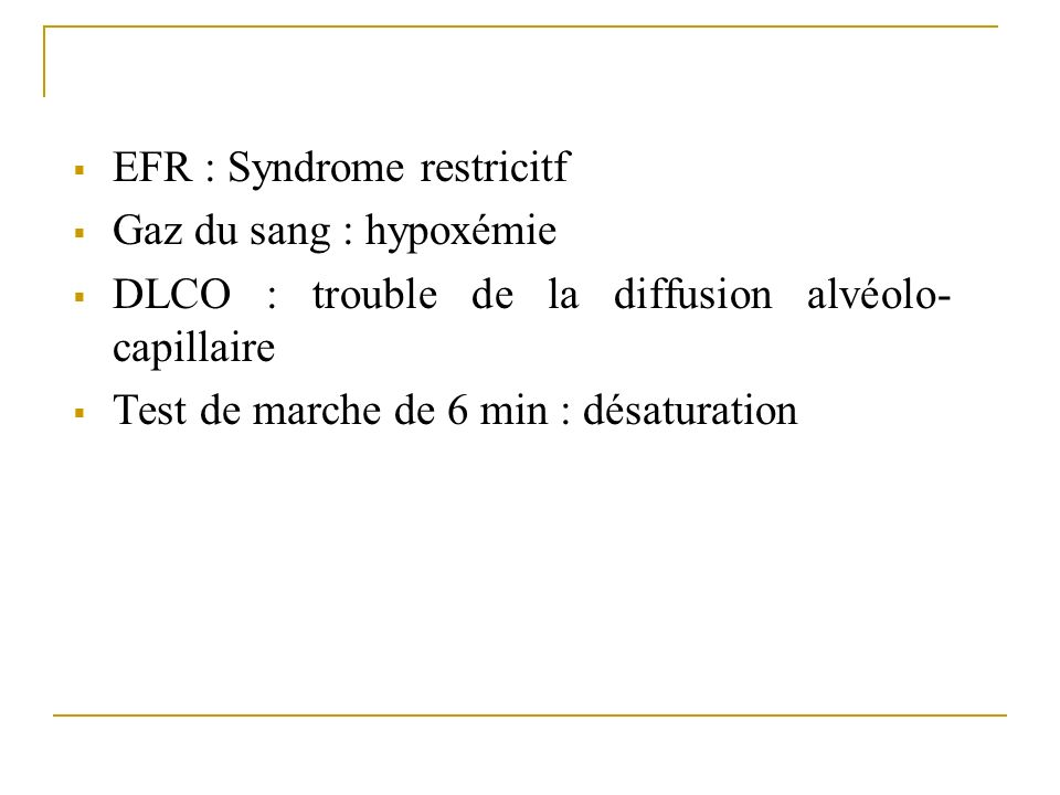 EFR : Syndrome restricitf