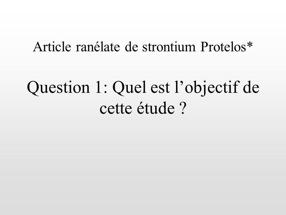 Article ranélate de strontium Protelos