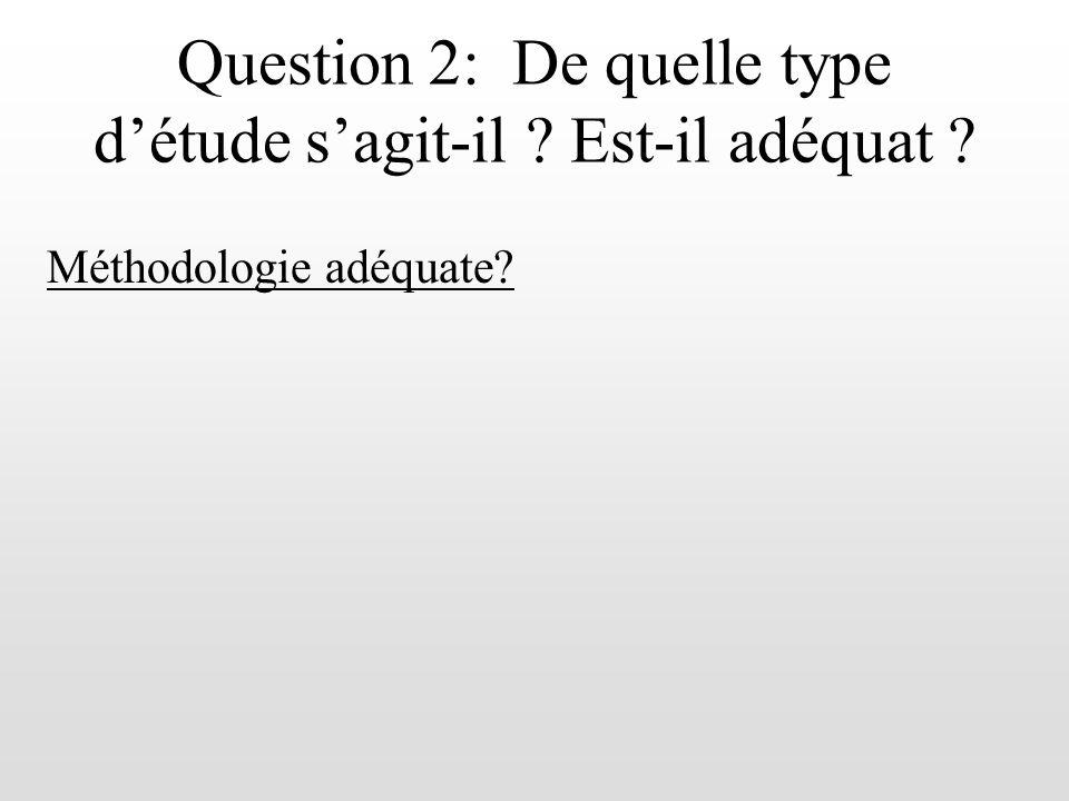 Question 2: De quelle type d'étude s'agit-il Est-il adéquat