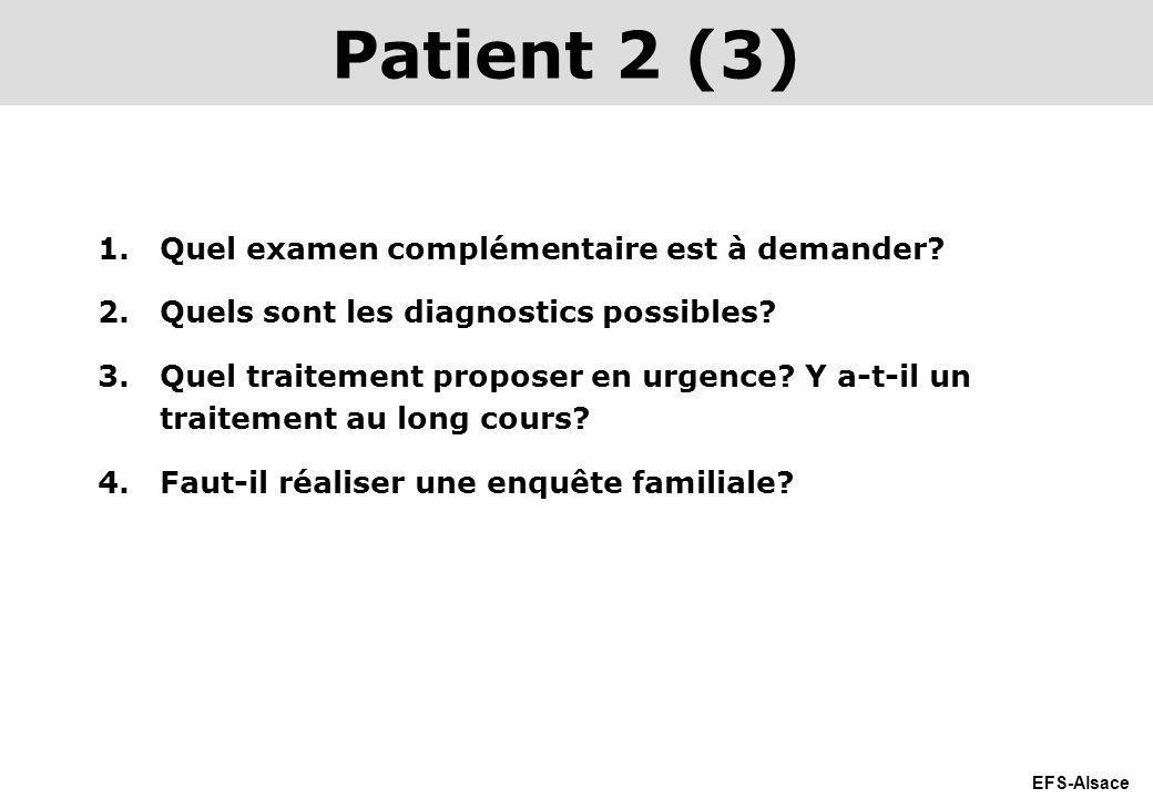 Patient 2 (3) Quel examen complémentaire est à demander